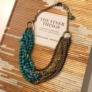 Turquoise & Mixed Metals Necklace
